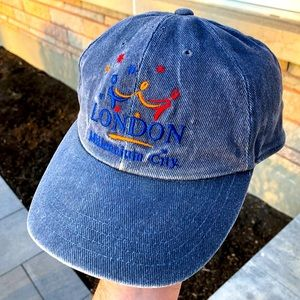 Vintage 1997 denim London England baseball cap hat